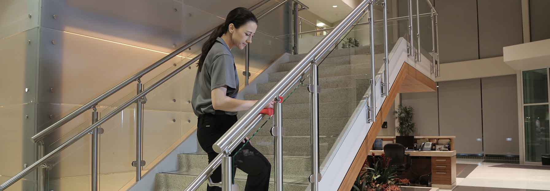 Commercial cleaning team cleaning workplace facilities