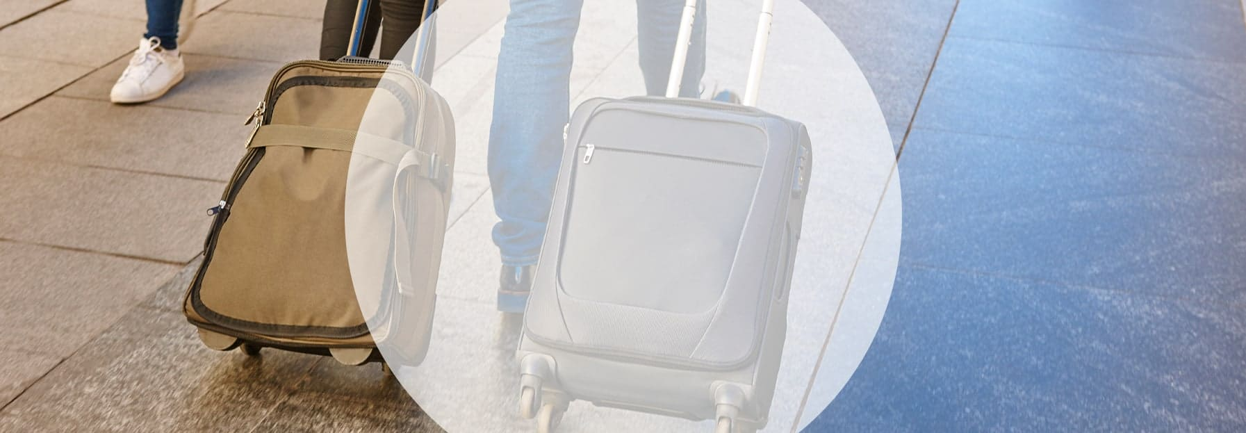 suitcases at an airport - tourism & leisure