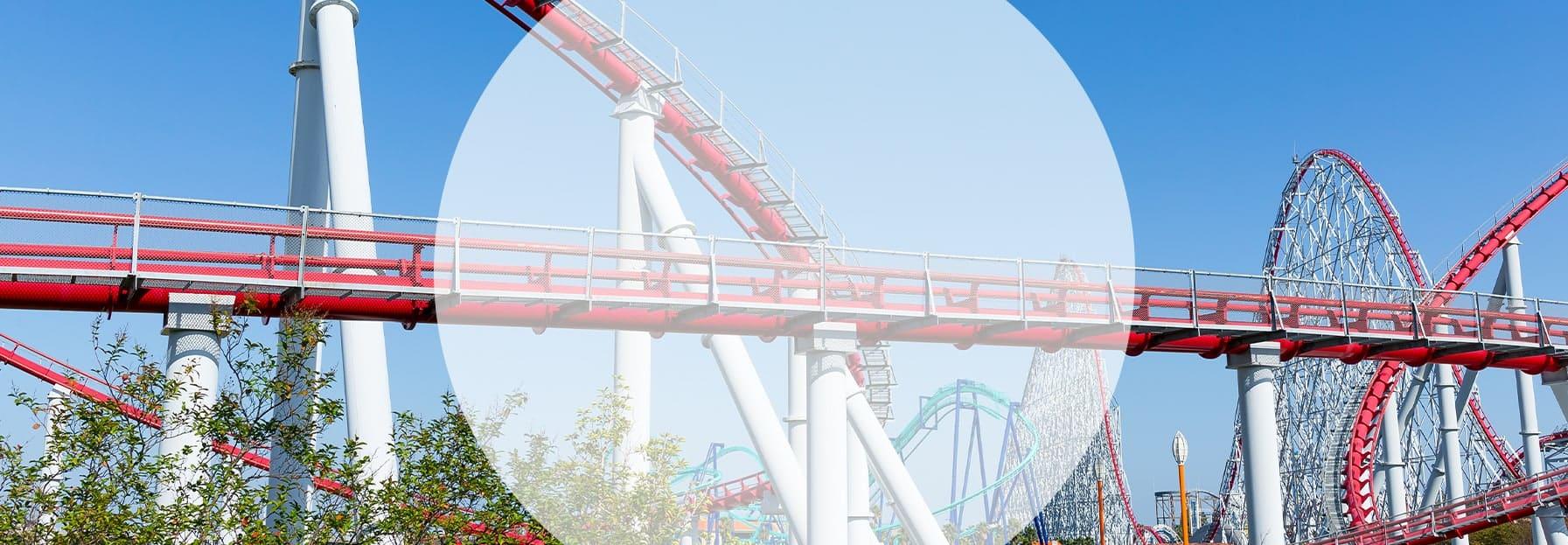 theme park rollercoaster - tourism & leisure